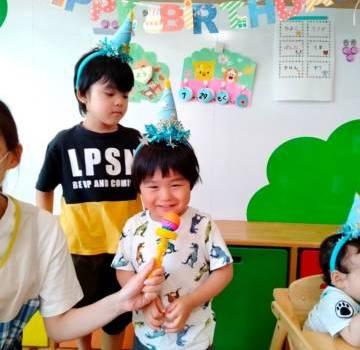 7月生まれのお誕生日会をしました